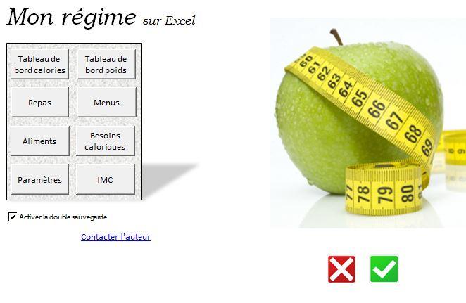 Accueil du calculateur de calories